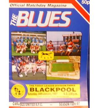 Carlisle United v Blackpool - Division 3 - 24th January 1987