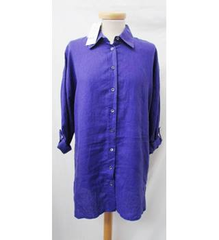 BNWT East - Size: S - Amethyst - Long Sleeved Lagenlook Shirt