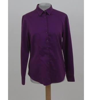 Charles TyrWhitt - Size: 10 - Purple - Long sleeved shirt