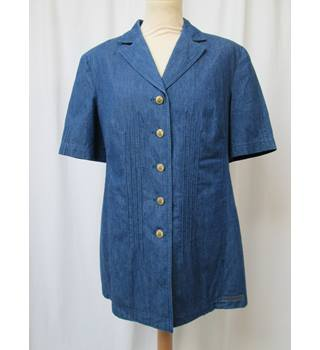 Catherina Hepfer - Size: 12 - Blue - Short sleeved shirt/jacket