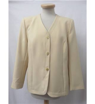 Eastex - Size: 14 - Pale yellow - Elegant collarless jacket