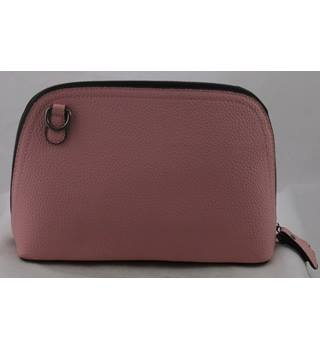 NWOT Unbranded, pink faux leather clutch, or across the body bag