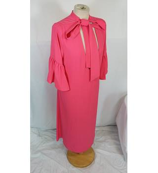M&S bright pink frilled sleeved midi dress 14 BNWT M&S Marks & Spencer - Size: 14 - Pink