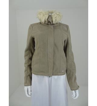 Guess Size Small Faux Fur Collar Jacket