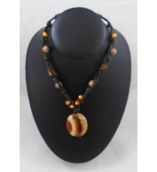 Orange/Brown Necklace