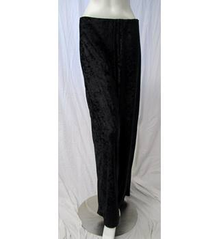 "Soft Black Trousers Size 18 Essentials - Size: 38"" - Black"