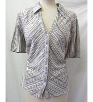 Country Casuals - Size: 18 - Beige - Short-sleeved striped shirt - Blouse