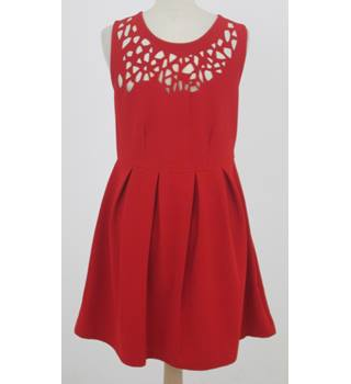 Izabel: Size 10: Red cut out skater dress