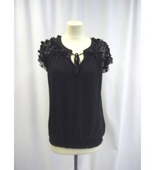 Rocha John Rocha - Size: 14 - Black - Short sleeved Top