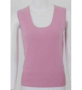 Pure Collection 8 Pink Cashmere Tank Top