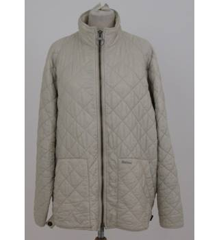 Barbour, size XL cream flyweight quilted jacket