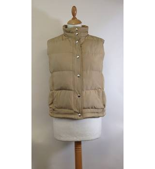 Brand new - M&S Marks and Spencer - beige sleeveless puffa jacket - size 8