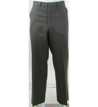 "Vintage - 1990s - St Michael - Size: 36""/29"" - Brown - 100% Wool - Trousers"