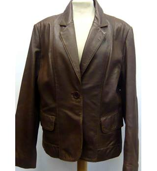M&S Marks & Spencer - Size: 16 - Brown (Chocolate) - Jacket