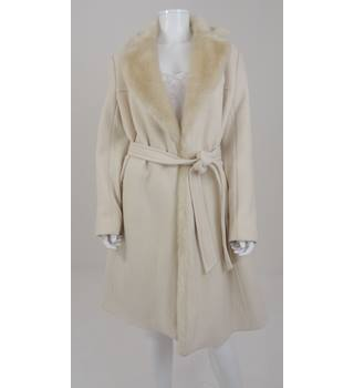 French Connection Size 16 Eggshell White Long Coat