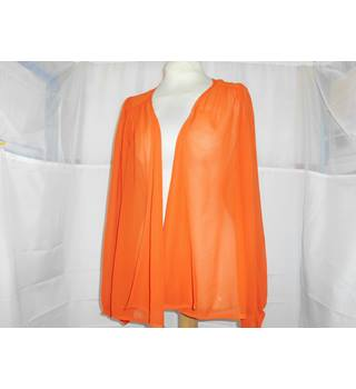 MISS SELFRIDGE ORANGE TOP Miss Selfridge - Size: 6 - Orange - Blouse