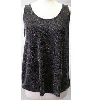 Blue Inc size:8 black shimmer top
