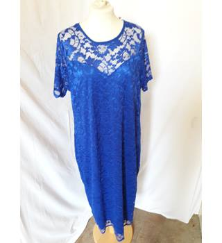 Nouvelle Collection - Size: 18 - Blue - Knee length dress