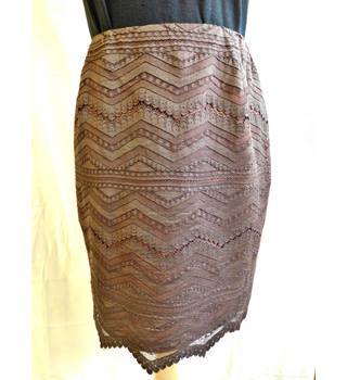Bazar de Christian Lacroix Brown Lace Skirt Bazar de Christian Lacroix - Size: 8 - Brown - A-line skirt