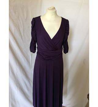 Purple Midi Dress Ever Pretty - Size: 10 - Purple - Knee length dress