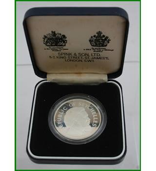 Seychelles - Silver Proof Crown - 25 Rupees   Queens Silver Jubilee - 1977