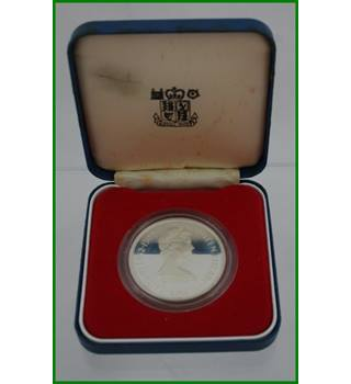 Guernsey - Silver Proof Crown - 25 Pence - Queens Silver Jubilee - 1977
