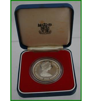Tristan Da Cunha - Silver Proof Crown - 25 Pence   Queens Silver Jubilee - 1977