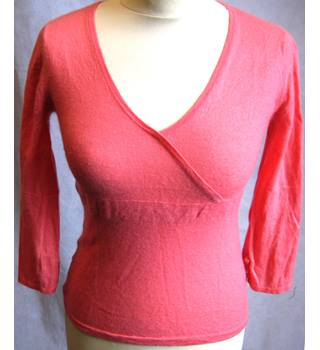 Shanghai Tang 100% cashmere salmon pink jumper S Shanghai Tang - Size: S - Pink - Jumper