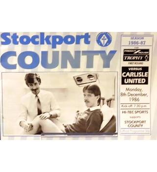 Stockport County v Carlisle United - Division 3 - 8th December 1986