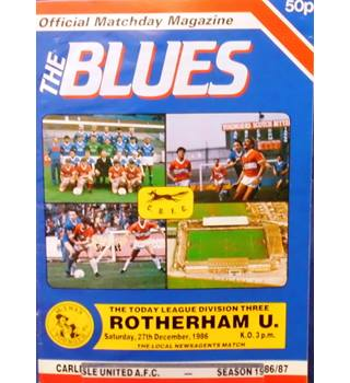 Carlisle United v Rotherham United - Division 3 - 27th December 1986