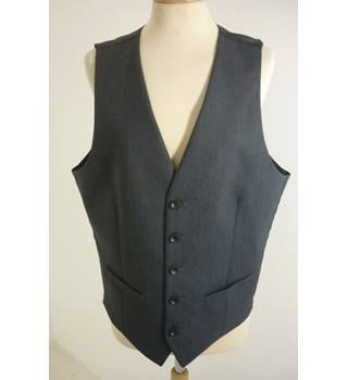 "M & S Size: M, 38"" Chest, super slim fit Charcoal Grey With Grey Rear Panel Casual/Stylish Polyester Waistcoat"