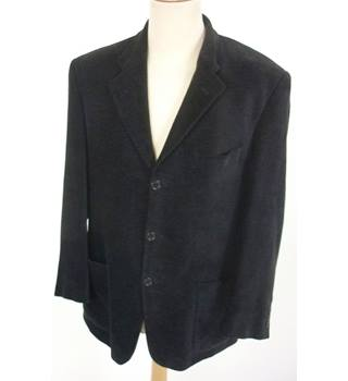 "M & S  Size: M, 40"" chest, regular fit Black Casual/Stylish Viscose & Cotton ""Soft"" Single  Breasted Jacket."