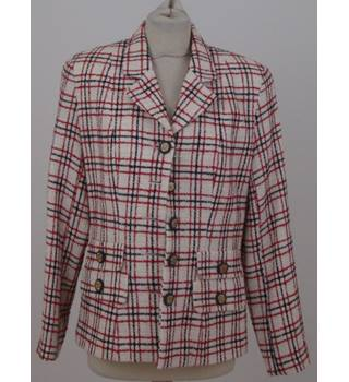 Bonbon size: L cream with red and navy check jacket