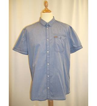 Blend - Size: XXL - Blue - Short Sleeved Shirt