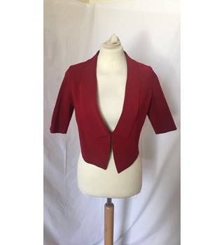 Cropped Burgundy Jacket Karen Millen - Size: 6 - Red - Smart jacket / coat