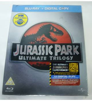Jurassic Park : Ultimate Trilogy (6 Disc Edition) * BLU-RAY, SEALED * PG