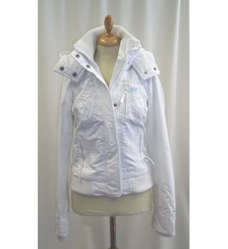 Abercrombie & Fitch - Size: S - White - Raincoat