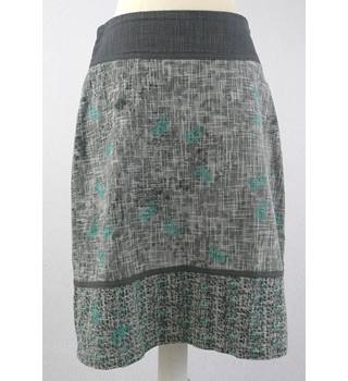 Laura Ashley - Size: 8 - Grey Green - Cotton Skirt