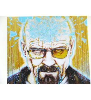 50% OFF SALE Breaking Bad 'Walter' Limited Edition Print by Sarah Lynn Mayhew 4/20