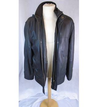 MEN'S COLLEZIONE (M&S) LEATHER JACKET, SIZE SMALL M&S Marks & Spencer - Size: S - Brown - Leather jacket