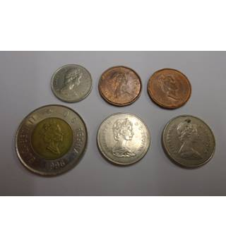 A MIXED SET OF 6 CANADA COINS.
