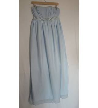 Light Blue Strapless Maxi Dress - Size 10 Alex Dobell