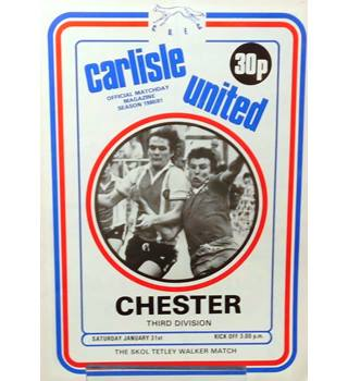 Carlisle United v Chester City - Division 3 - 31st January 1981