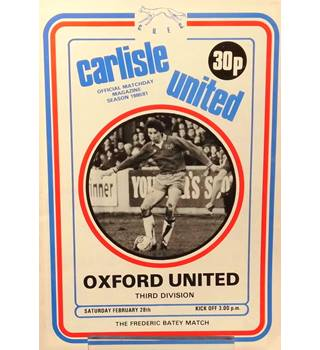 Carlisle United v Oxford United - Division 3 - 28th February 1981