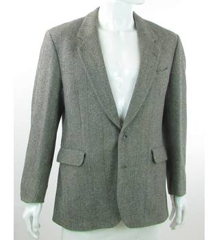 Vintage - Dunn & Co - Size: 42R - Cement Grey - 100% Wool - Single breasted suit jacket