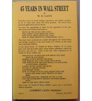 Forty-Five Years In Wall Street
