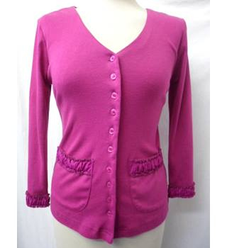 Adini - Size: XS - Magenta Pink - Button up cardigan