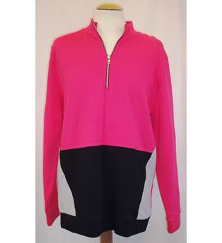 BNWT ASOS (Manufacturers sample) Size M Fluorescent pink half zip Tracksuit top