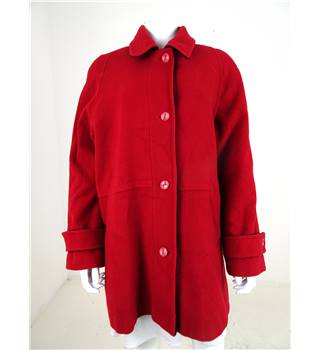 David Barry Size 20 Red Wool Coat