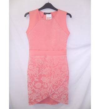 Dream - Size: 10 -Salmon pink -Sleeveless, wrap effect knee length dress